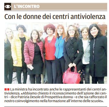 Il Ministro Fedeli Incontra I Rappresentanti Dei Centri Anti-Violenza Sardi